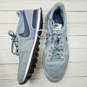 Nike internationalist gray suede blue purple 11 mens